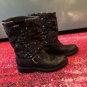 Women's Frye Studded Motorcycle Boots